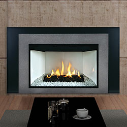 Loft Luxury Direct Vent Fireplace Insert Liner Blower Remote
