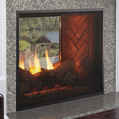 "36"" Fortress Indoor/Outdoor IntelliFire See-Thru Direct Vent Linear Fireplace  (Electronic Ignition) - Monessen"