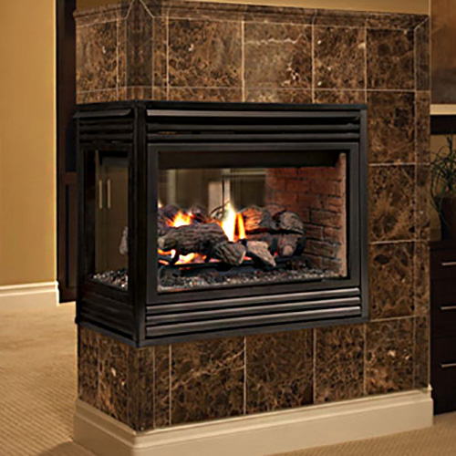 "35"" Merit Plus Peninsula Direct Vent Fireplace (Millivolt/Pilot) - Superior"