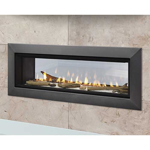 "36"" Echelon II IntelliFire Plus See-Thru Direct Vent Linear Fireplace  (Electronic Ignition) - Majestic"