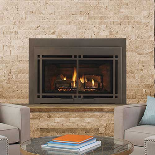 30 Ruby Contemporary Intellifire Plus Direct Vent Fireplace Insert Blower And Remote