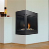 "36"" Pearl Designer Signature Command Direct Vent Left Corner Fireplace (Electronic Ignition) - Majestic"