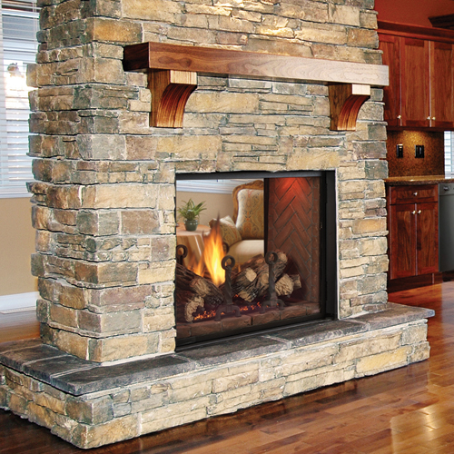 Direct vent fireplaces direct vent stoves and inserts for See thru fireplaces