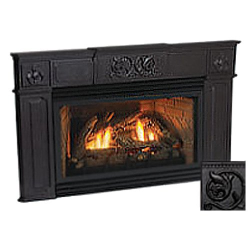 30 Innsbrook Direct Vent Fireplace Insert Liner Blower And Cast Iron Surround Electronic